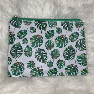 Large Tropical Leaves Cosmetic Bag NEW